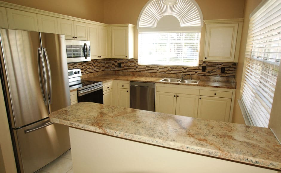 Completed kitchen remodel new cabinets and countertops