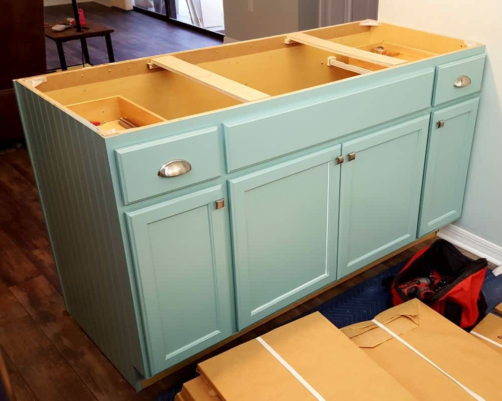 In progerss cabinet refacing