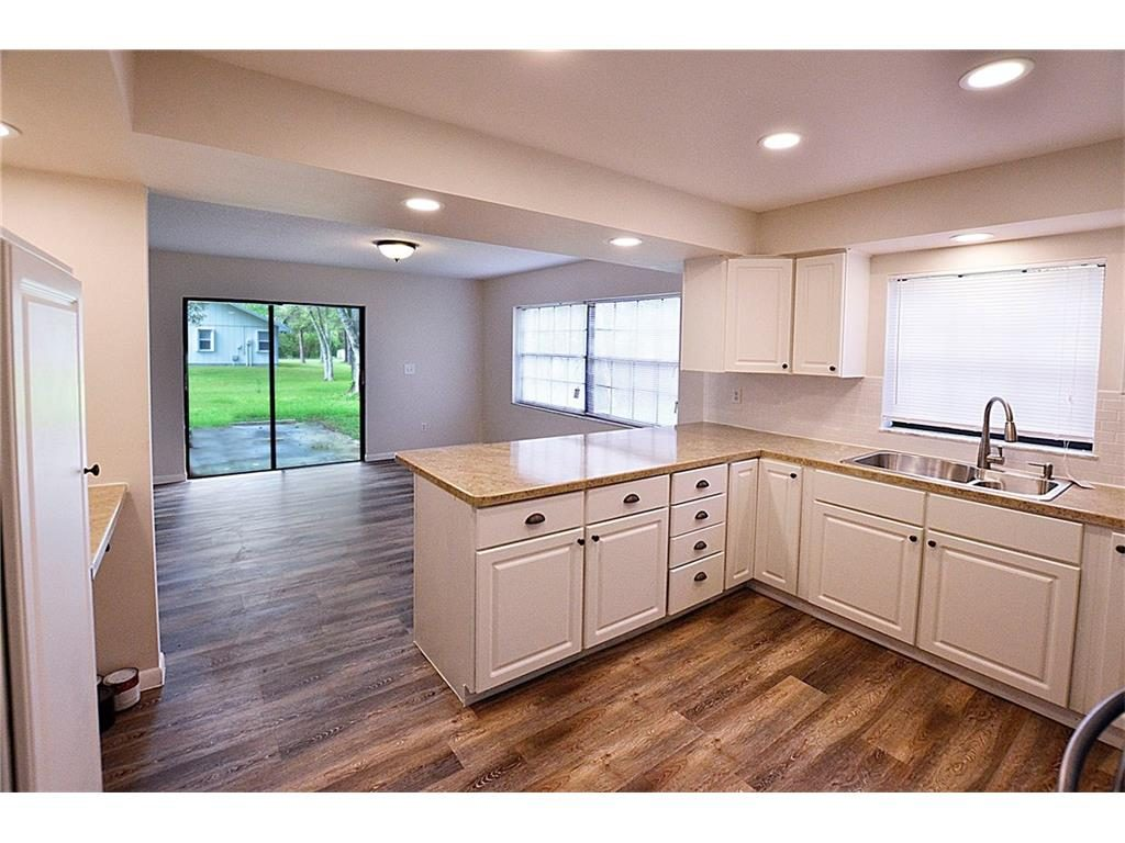 Bright kitchen with new cabinets and counters