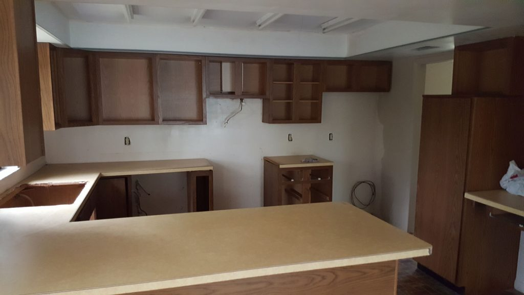 Kitchen in construction