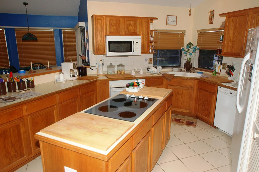Whole kitchen before renovation