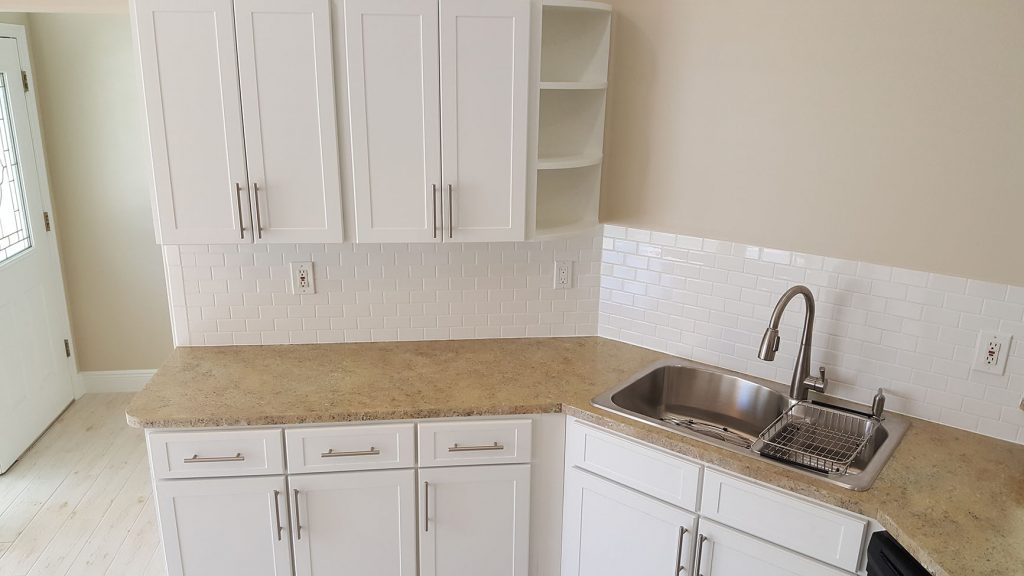 Counters and cabinets after update