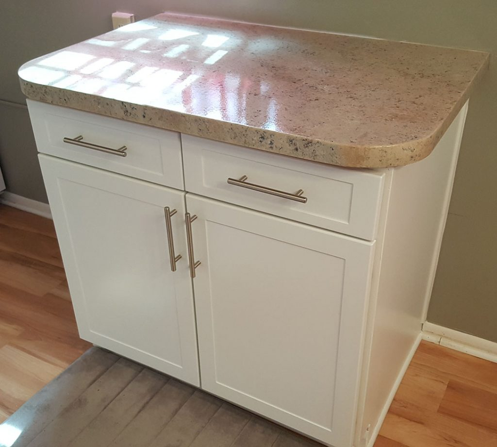 Custom island and additional cabinetry and countertop