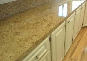 Tan countertop close up