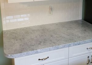 Resurfaced granite countertop