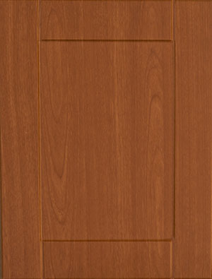 Stained wooden cabinet door sample