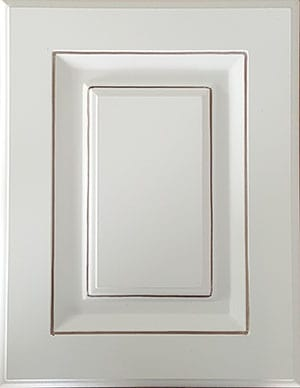 White paneled cabinet door sample