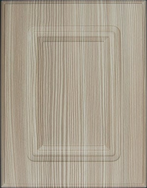 Vertical wood grain cabinet door sample