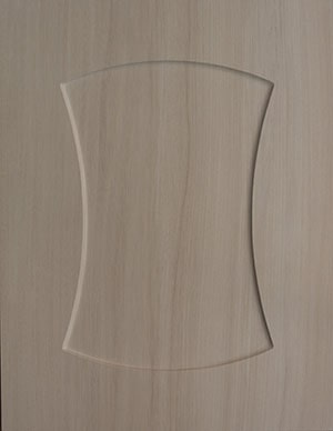 Wood grain cabinet door sample