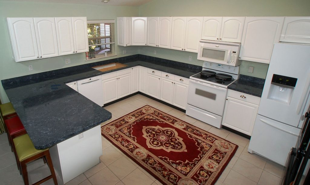 Aerial view of remodeled kitchen