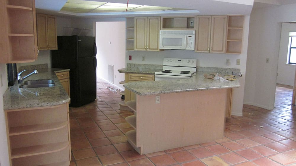 Kitchen west view before renovation