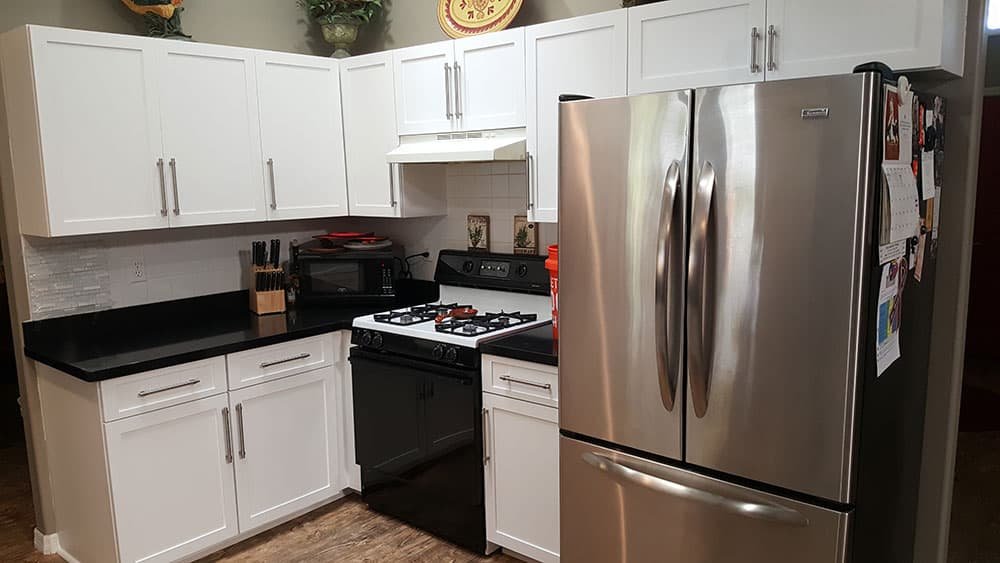Attirant Kitchen With New Cabinets After Renovation